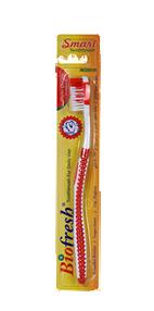 فرشاة الأسنان الذكية باللون الأحمر