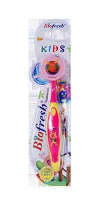 فرشاة أسنان الأطفال باللون الوردي